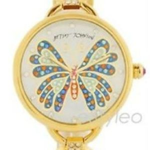 Betsey Johnson Women Round Watch Butterfly NEW